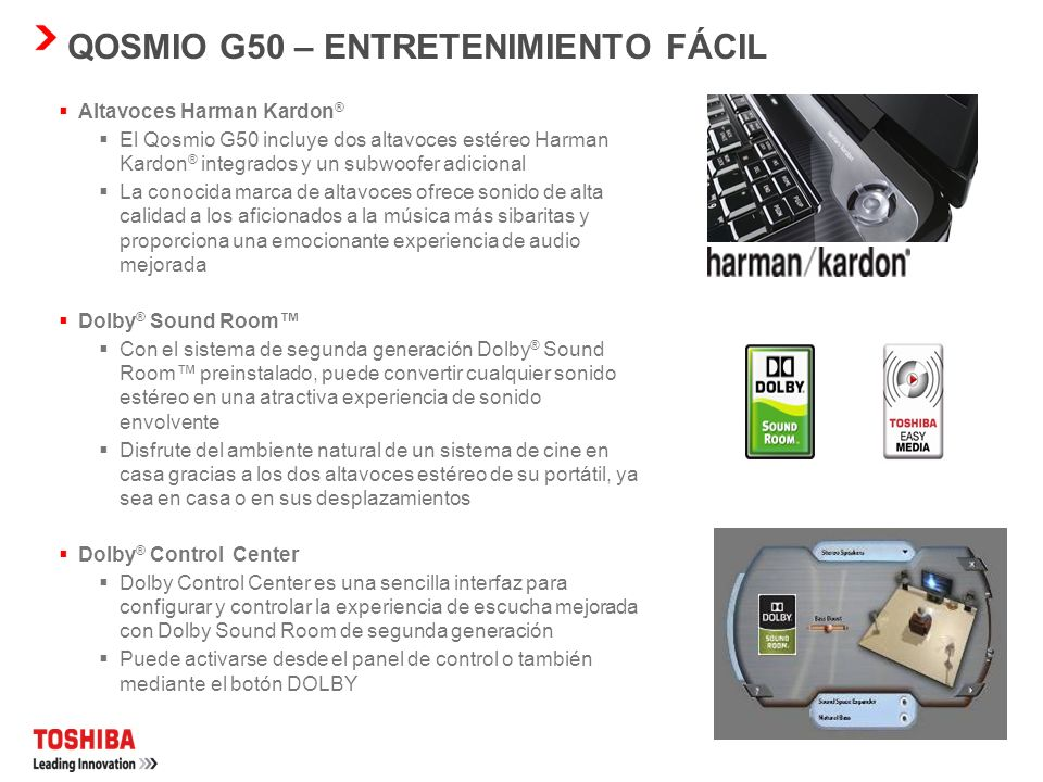 NUEVO DISEÑO DE QOSMIO Diseño sin lengüetas Webcam y micrófono integrados Barra multimedia con teclas de uso fácil sensibles al tacto con LED blanco N