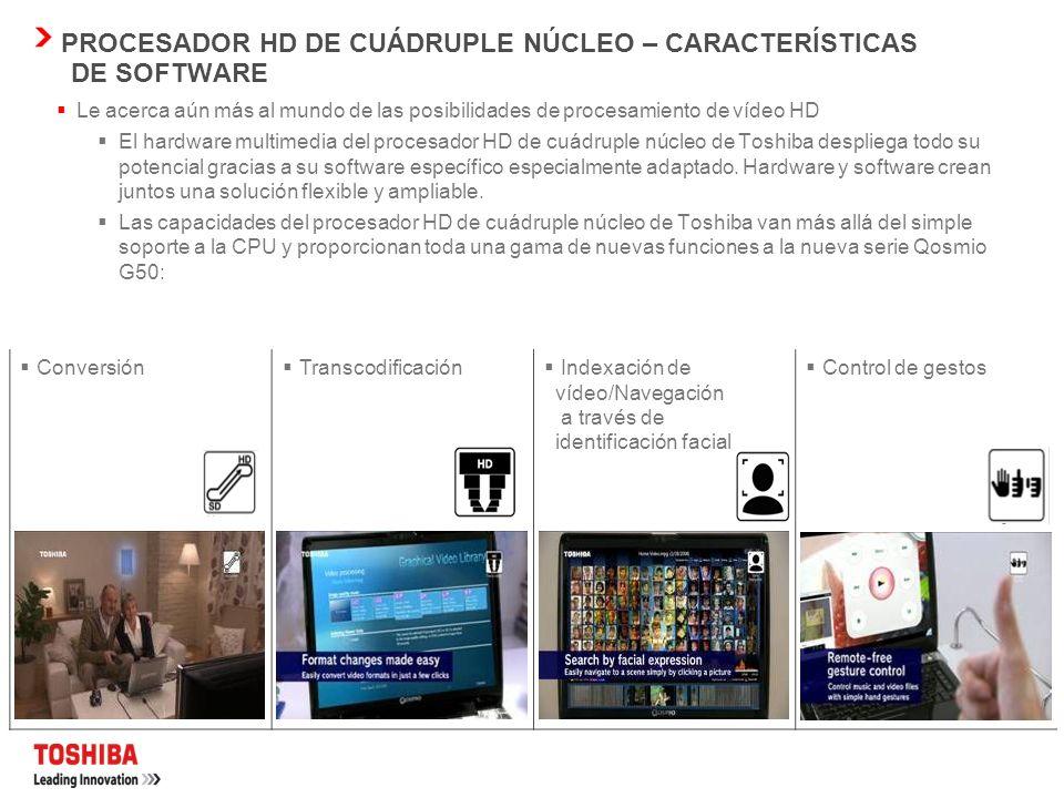 Procesador HD de cuádruple núcleo de Toshiba Primer portátil del mundo con procesador multimedia de cuádruple núcleo basado en el chip Cell A medida q