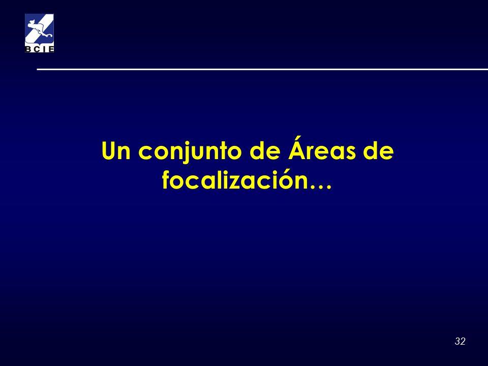 32 Un conjunto de Áreas de focalización…