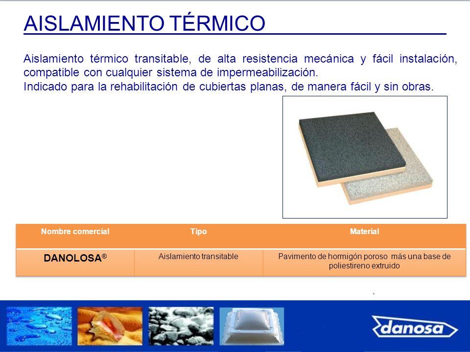 Aislamiento térmico transitable, de alta resistencia mecánica y fácil instalación, compatible con cualquier sistema de impermeabilización. Indicado pa