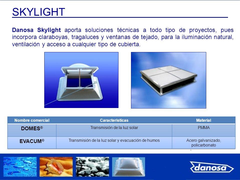 Danosa Skylight aporta soluciones técnicas a todo tipo de proyectos, pues incorpora claraboyas, tragaluces y ventanas de tejado, para la iluminación n