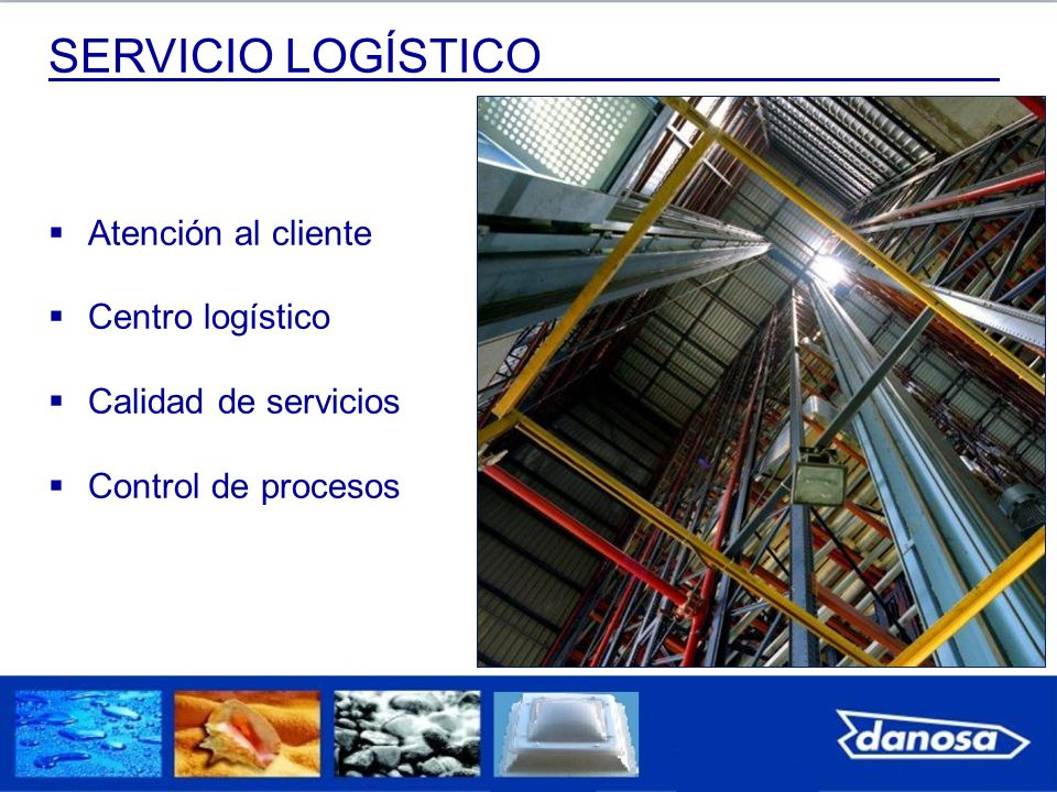 SERVICIO LOGÍSTICO Atención al cliente Centro logístico Calidad de servicios Control de procesos
