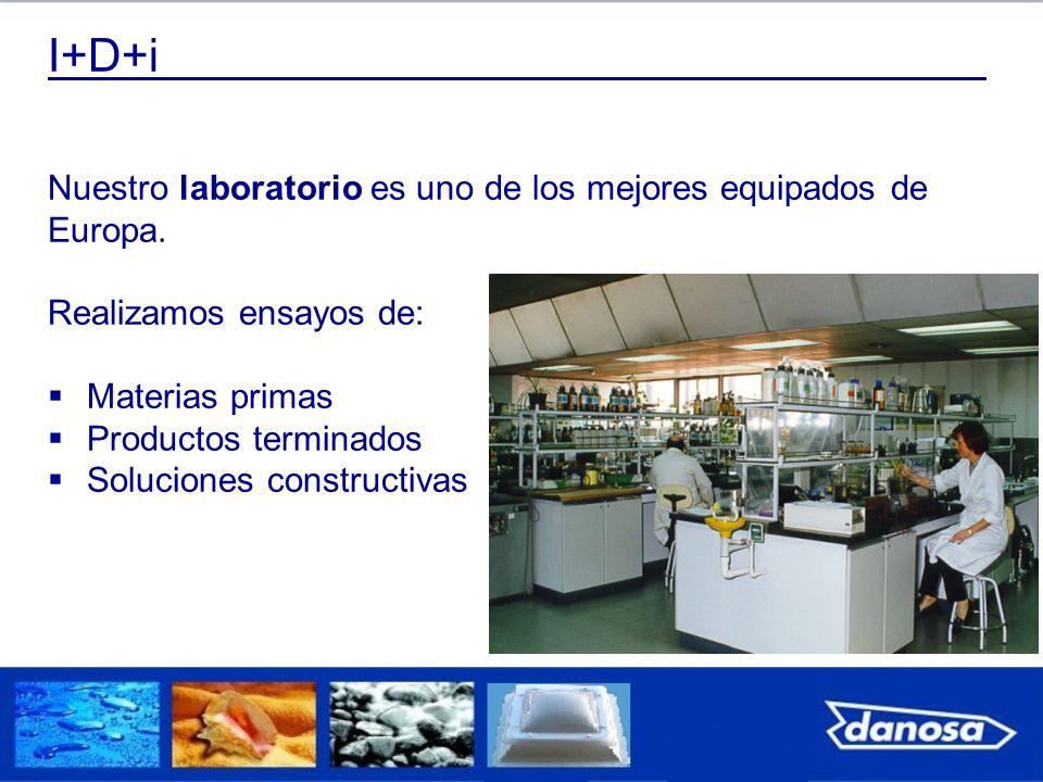 I+D+i Nuestro laboratorio es uno de los mejores equipados de Europa. Realizamos ensayos de: Materias primas Productos terminados Soluciones constructi