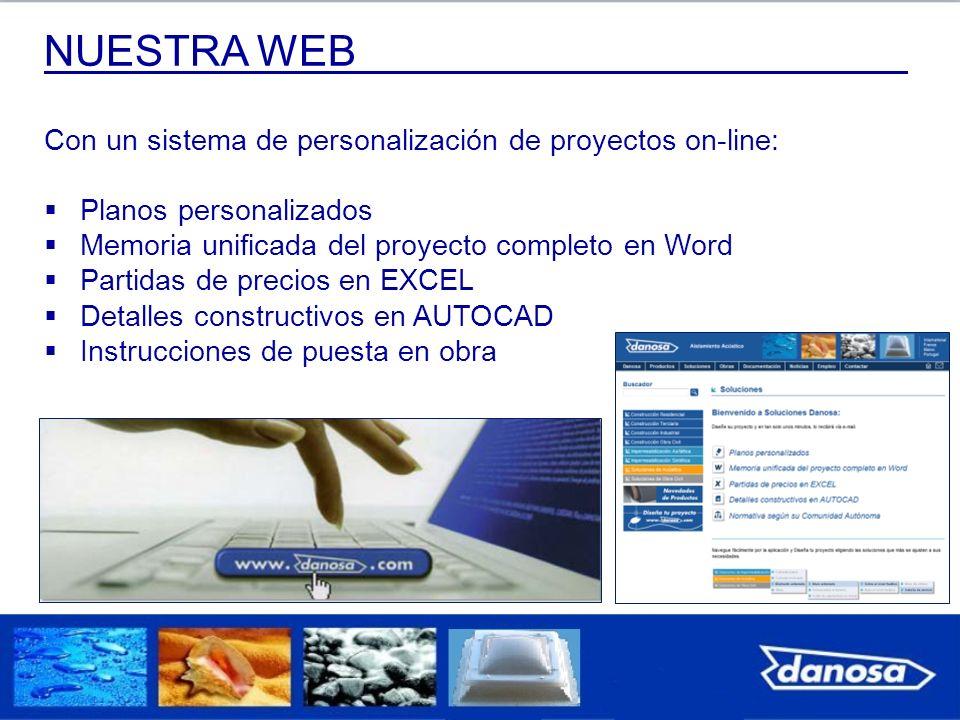 Con un sistema de personalización de proyectos on-line: Planos personalizados Memoria unificada del proyecto completo en Word Partidas de precios en E