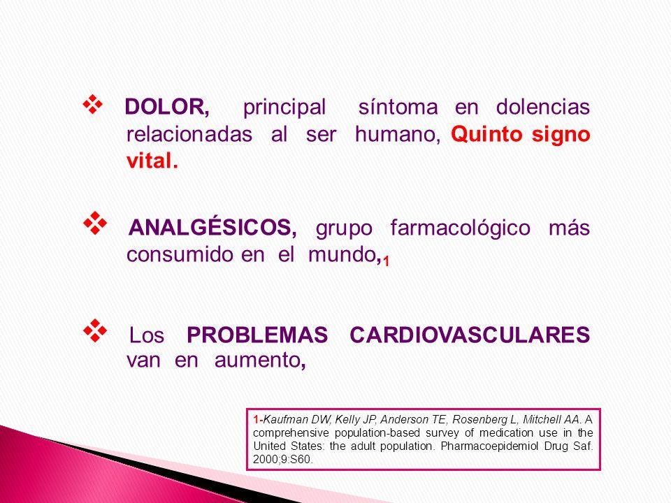 La HIPERTENSIÓN ARTERIAL, junto con la Diabetes Mellitus son las situaciones clínicas que producen mayor Comorbilidad, Los analgésicos ANTIINFLAMATORIOS NO ESTEROIDEOS -AINEs son los más utilizados en enfermedades crónicas relacionadas con el sistema Osteoarticular, y los OPIÁCEOS en menor grado.