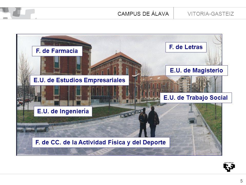 6 CAMPUS DE BIZKAIA LEIOA F.de Ciencia y Tecnología F.
