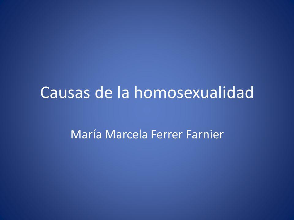 Causas de la homosexualidad María Marcela Ferrer Farnier
