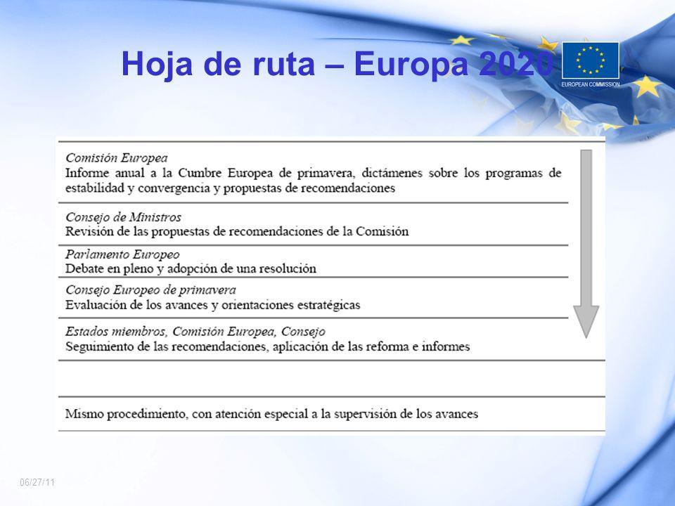 06/27/11 Hoja de ruta – Europa 2020