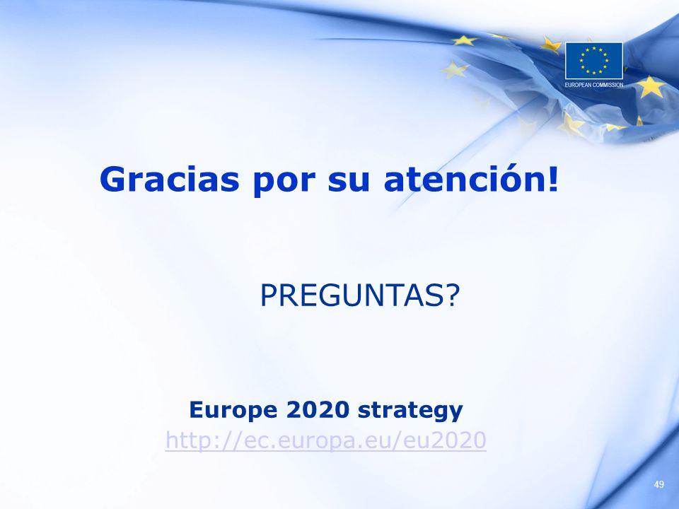 49 Gracias por su atención! PREGUNTAS? Europe 2020 strategy http://ec.europa.eu/eu2020