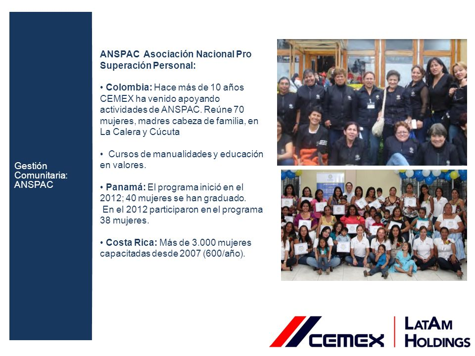 Capacitación: Colombia: Convenios con el SENA: formación en cursos técnicos y tecnólogos.