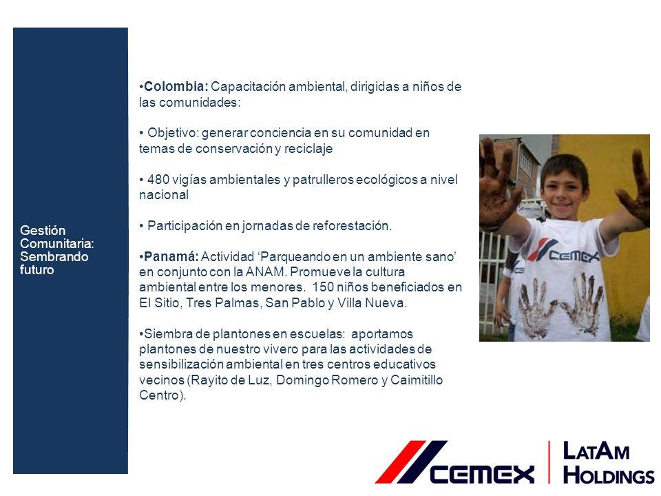 Colombia: Desarrollamos proyectos productivos en medio ambiente con las comunidades vecinas: Desarrollo de capacidades.