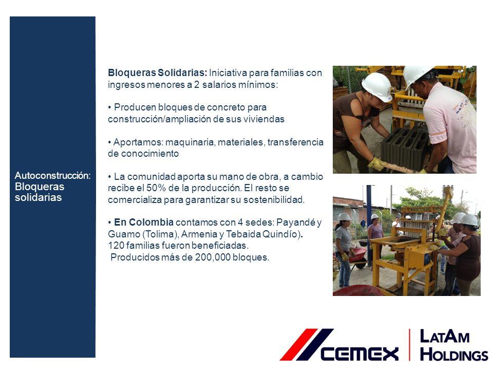 Colombia: Donamos materiales de construcción y vinculamos a las alcaldías locales y voluntarios de la compañía para el mejoramiento de las condiciones de escuelas vecinas.