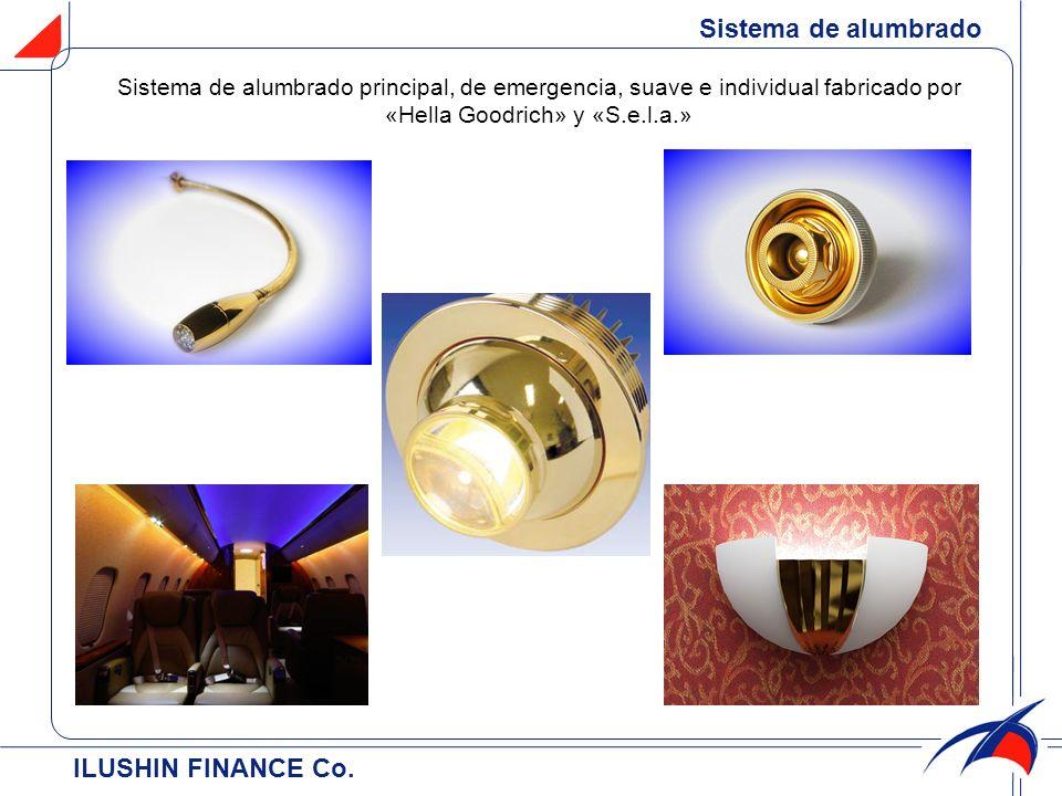 ILUSHIN FINANCE Cо. Sistema de alumbrado principal, de emergencia, suave e individual fabricado por «Hella Goodrich» y «S.e.l.a.» Sistema de alumbrado