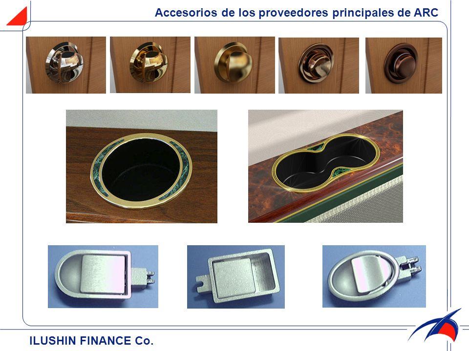 ILUSHIN FINANCE Cо. Accesorios de los proveedores principales de ARC