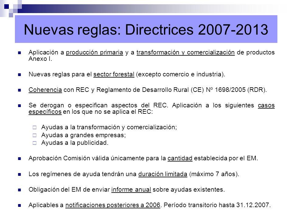 Capítulo IV.J.de las Directrices (reenvío art. 14 REC).