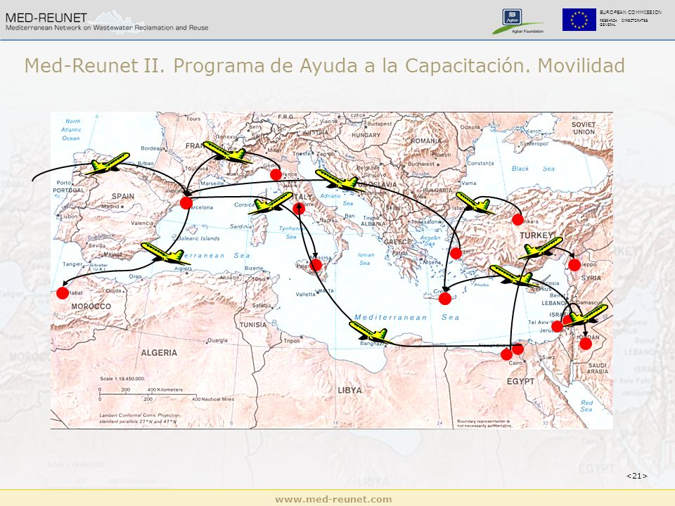 www.med-reunet.com EUROPEAN COMMISSION RESEARCH DIRECTORATES GENERAL Med-Reunet II. Programa de Ayuda a la Capacitación. Movilidad