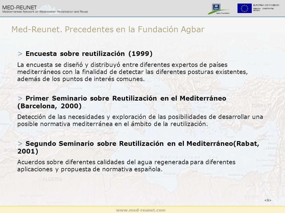 www.med-reunet.com EUROPEAN COMMISSION RESEARCH DIRECTORATES GENERAL Med-Reunet.