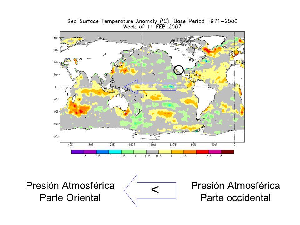 En la semana de febrero 11 del 2009 se registraron en el Golfo de California temperaturas de 0.5 a 1 o C de diferencia con respecto al promedio anual de 1971 a 2000.