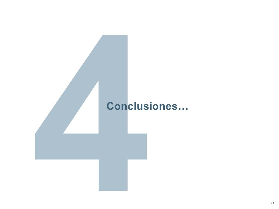 21 Conclusiones…