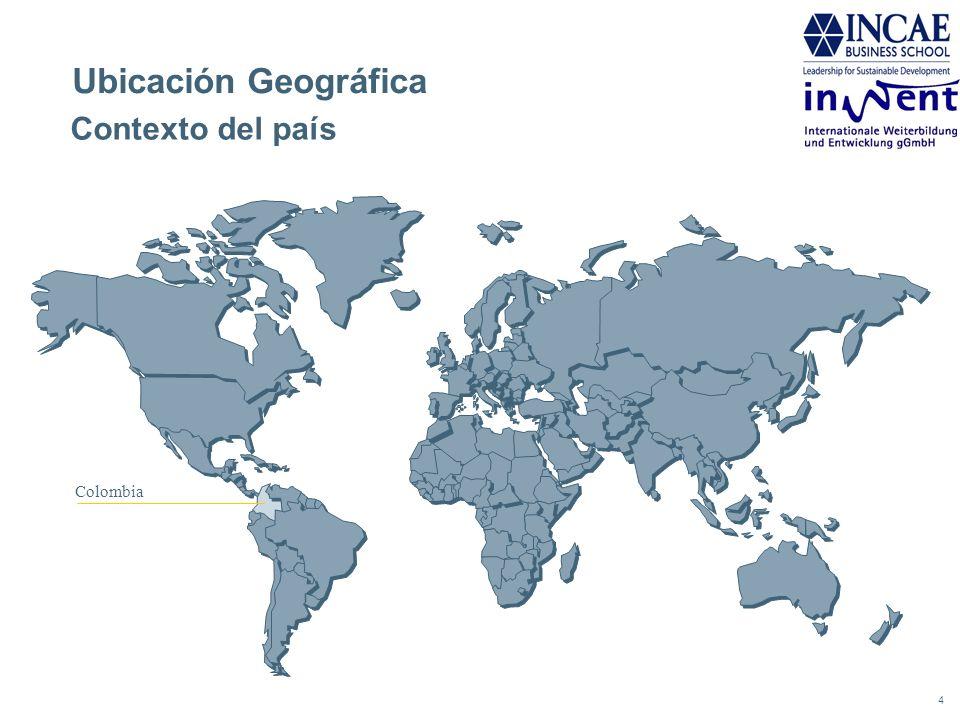 4 Contexto del país Ubicación Geográfica Colombia