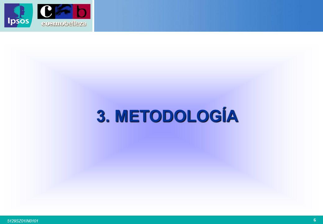 5 5129SZ01IN0101 2. OBJETIVOS Los principales objetivos cubiertos en la presente investigación han sido los siguientes: GIMNASIO Acostumbra a ir al gi