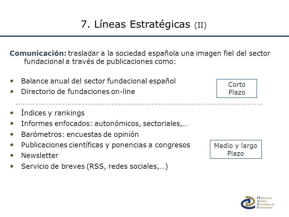 Comunicación: trasladar a la sociedad española una imagen fiel del sector fundacional a través de publicaciones como: Balance anual del sector fundaci