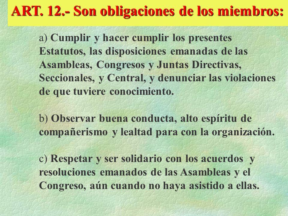 r) A ser rehabilitado en sus derechos sindicales, en los casos siguientes: r.1. Al terminar sus funciones como empleado de confianza en la Institución