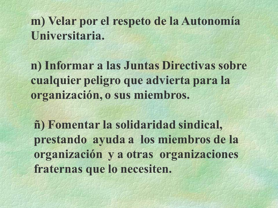 j) No tratar en el seno de las instancias sindicales, ni a nombre de la organización sindical asuntos que conciernen a partidos políticos o creencias
