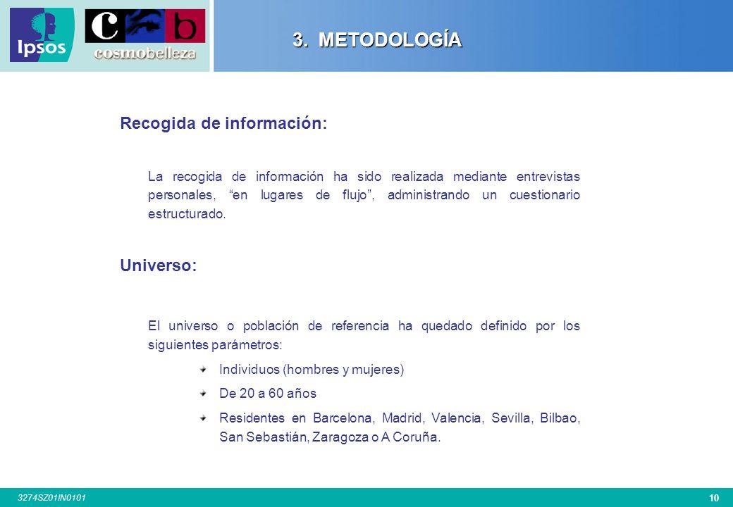 9 3274SZ01IN0101 3. METODOLOGÍA 3. METODOLOGÍA