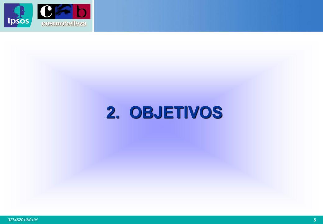 35 3274SZ01IN0101 Base: Total Entrevistas: (900-903-902-912-916-902) TOTAL Hombre Mujer 21-30 31-40 41-50 51-60 Barcelona Madrid Valencia Sevilla Bilbao S.