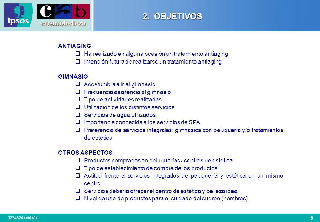 68 3274SZ01IN0101 CIUDAD San Sebastián 100 Base: Total Entrevistas Bilbao 100 A Coruña 101 Zaragoza 100 4.7.3.