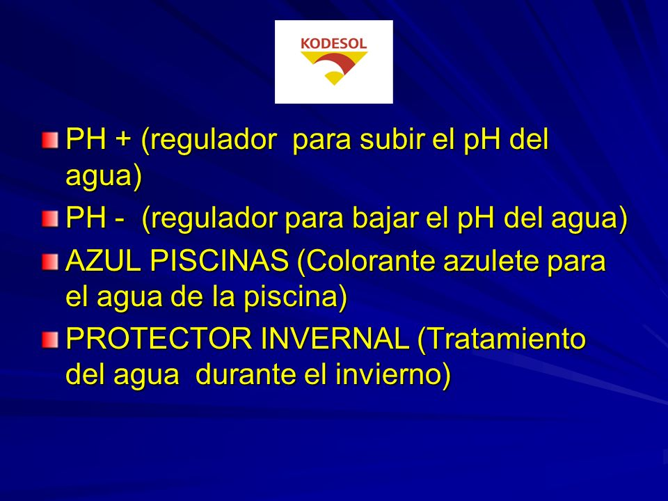 TEXDIZ (Limpiador de suelos y paredes de piscinas y aljibes) CLORO - P (Hipoclorito sódico 180 º) KODESOL TRICLORO EN PASTILLAS. (Ácido tricloroisocia