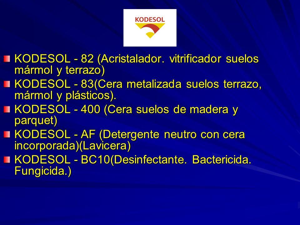 TEXDIZ (Limpiador de suelos y paredes de piscinas y aljibes) CLORO - P (Hipoclorito sódico 180 º) KODESOL TRICLORO EN PASTILLAS.