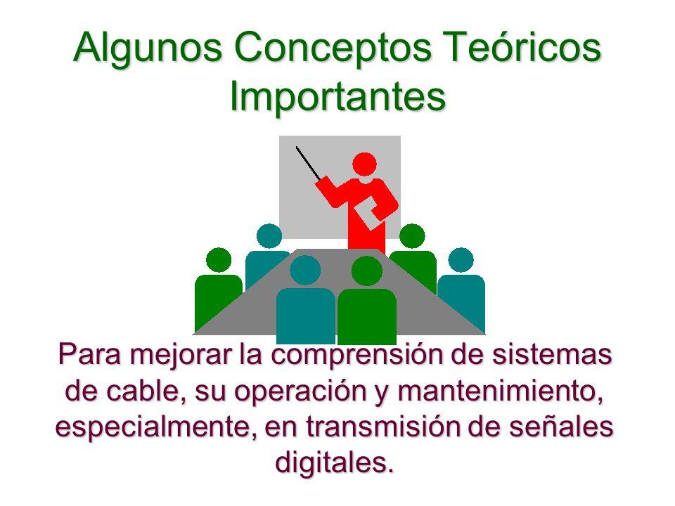Algunos Conceptos Teóricos Importantes Para mejorar la comprensión de sistemas de cable, su operación y mantenimiento, especialmente, en transmisión d