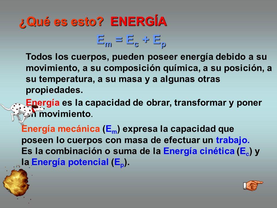 ¿Qué es esto.Energía es la capacidad de obrar, transformar y poner en movimiento.
