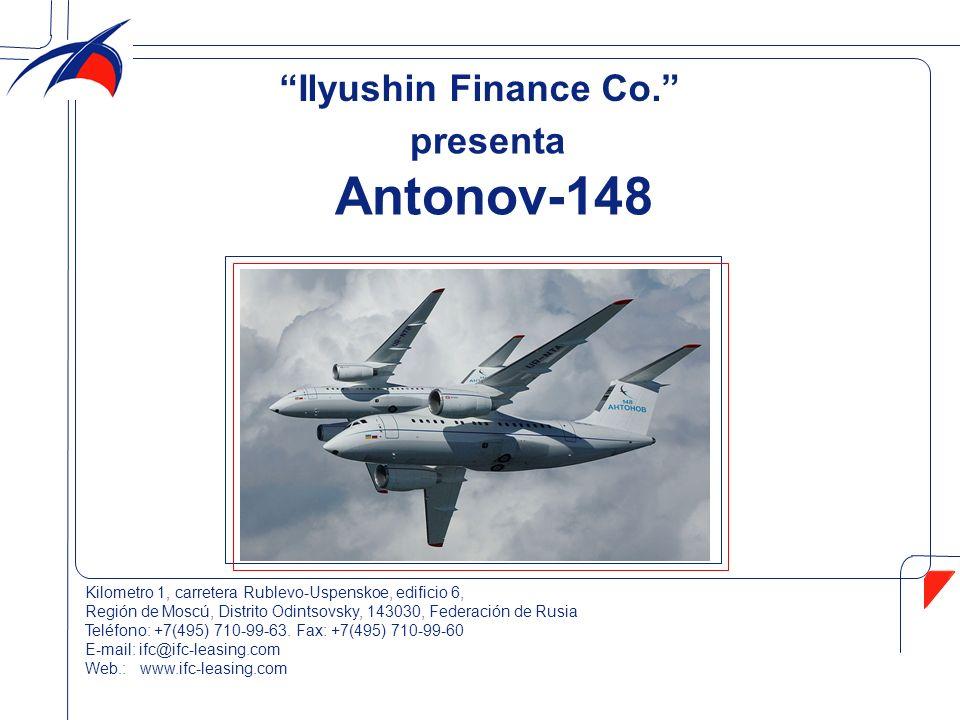 presenta Antonov-148 Kilometro 1, carretera Rublevo-Uspenskoe, edificio 6, Región de Moscú, Distrito Odintsovsky, 143030, Federación de Rusia Teléfono