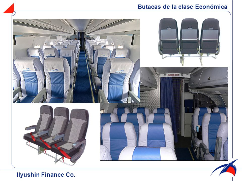 Butacas de la clase Económica Ilyushin Finance Co.