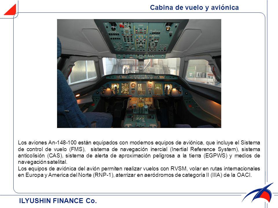 ILYUSHIN FINANCE Co. Cabina de vuelo y aviónica Los aviones An-148-100 están equipados con modernos equipos de aviónica, que incluye el Sistema de con