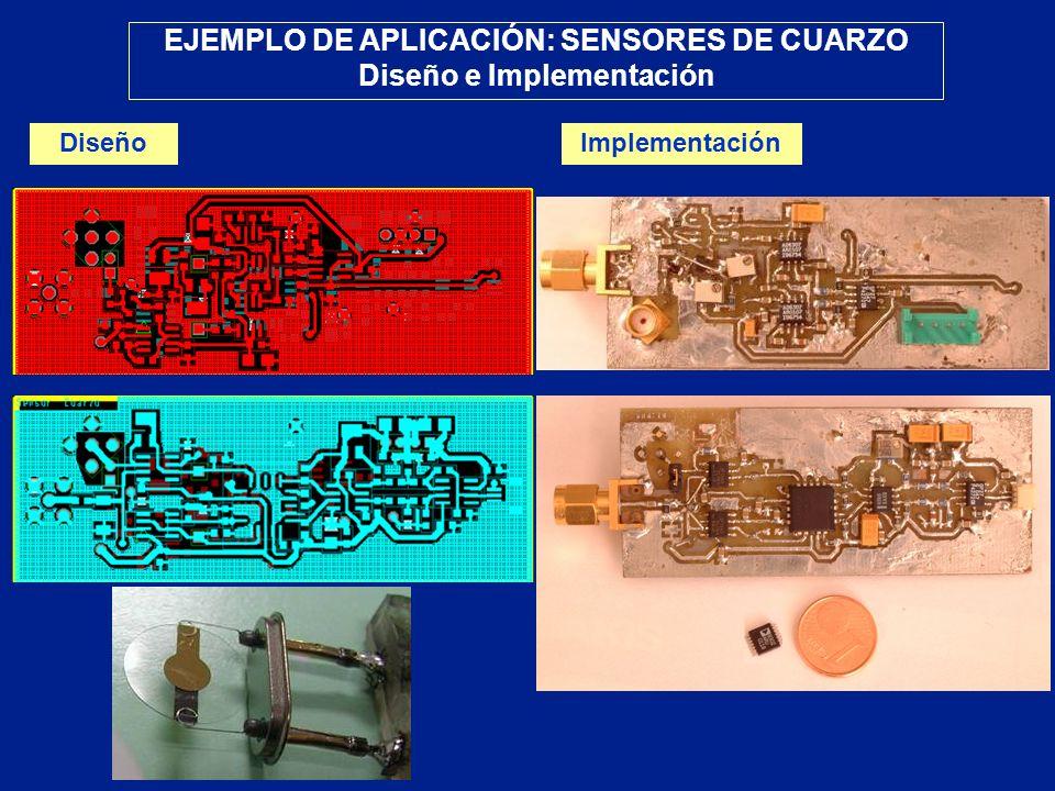 EJEMPLO DE APLICACIÓN: SENSORES DE CUARZO Diseño e Implementación DiseñoImplementación