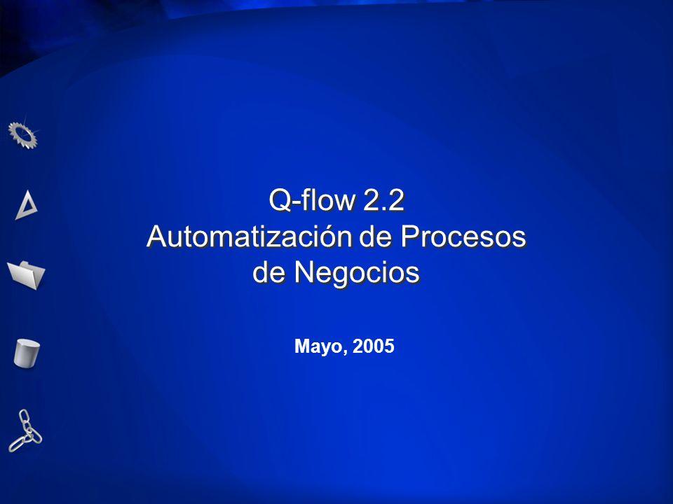 Q-flow 2.2 Automatización de Procesos de Negocios Mayo, 2005