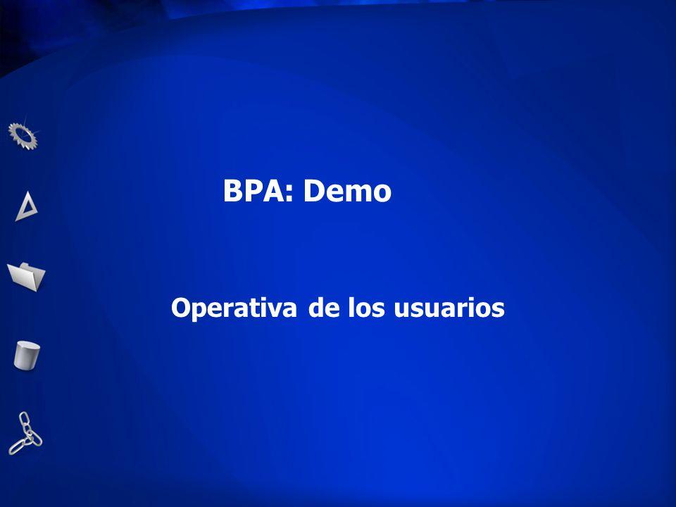BPA: Demo Operativa de los usuarios