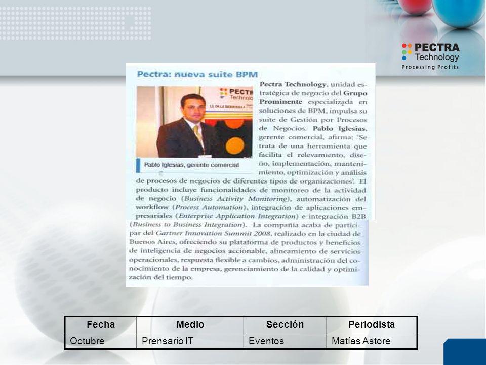 FechaMedioSecciónPeriodista OctubrePrensario ITEventosMatías Astore