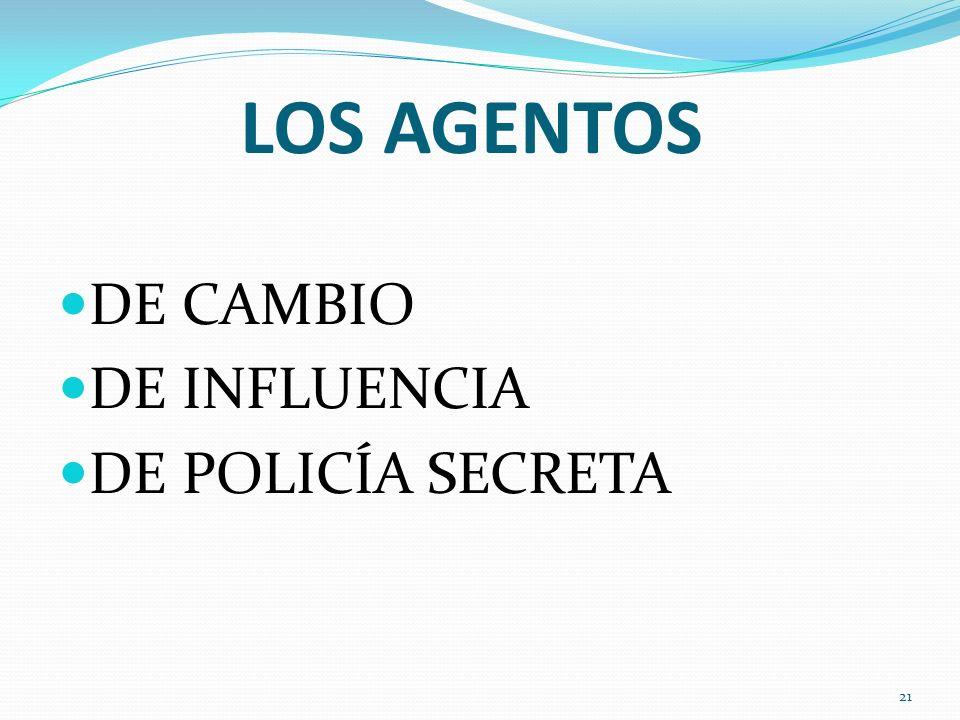 LOS AGENTOS DE CAMBIO DE INFLUENCIA DE POLICÍA SECRETA 21