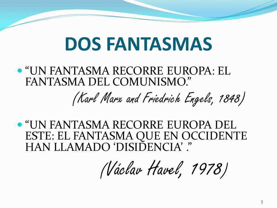 DOS FANTASMAS UN FANTASMA RECORRE EUROPA: EL FANTASMA DEL COMUNISMO. (Karl Marx and Friedrich Engels, 1848) UN FANTASMA RECORRE EUROPA DEL ESTE: EL FA