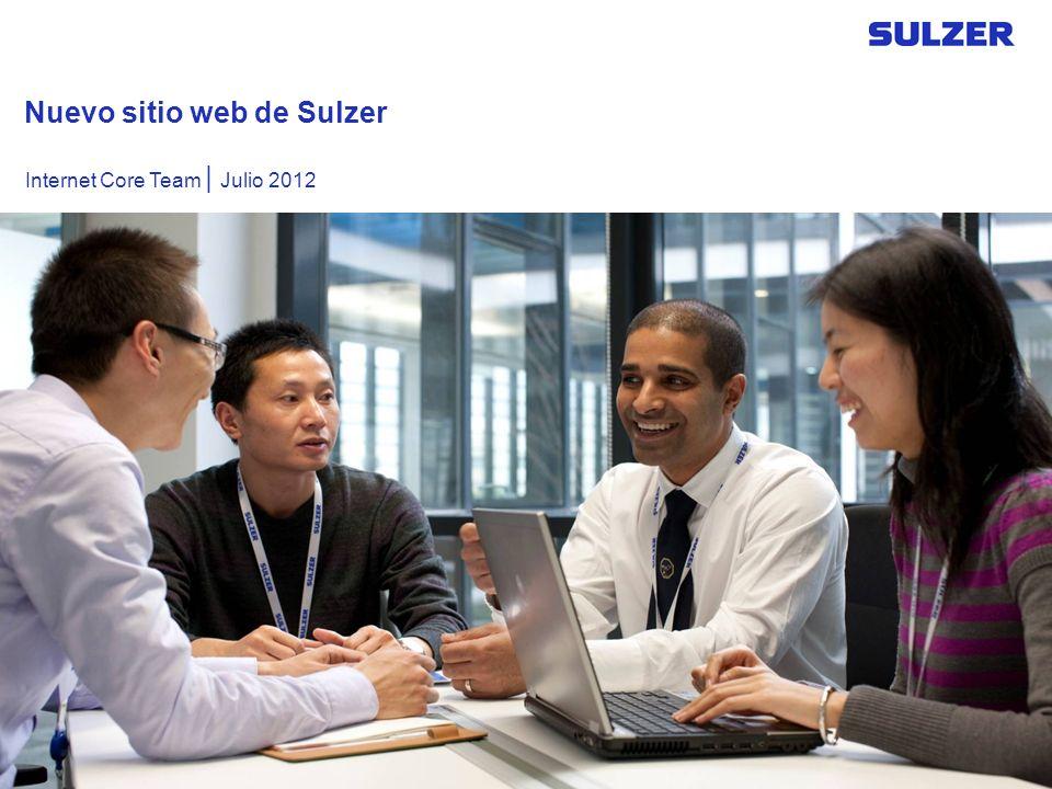 Nuevo sitio web de Sulzer Internet Core Team | Julio 2012
