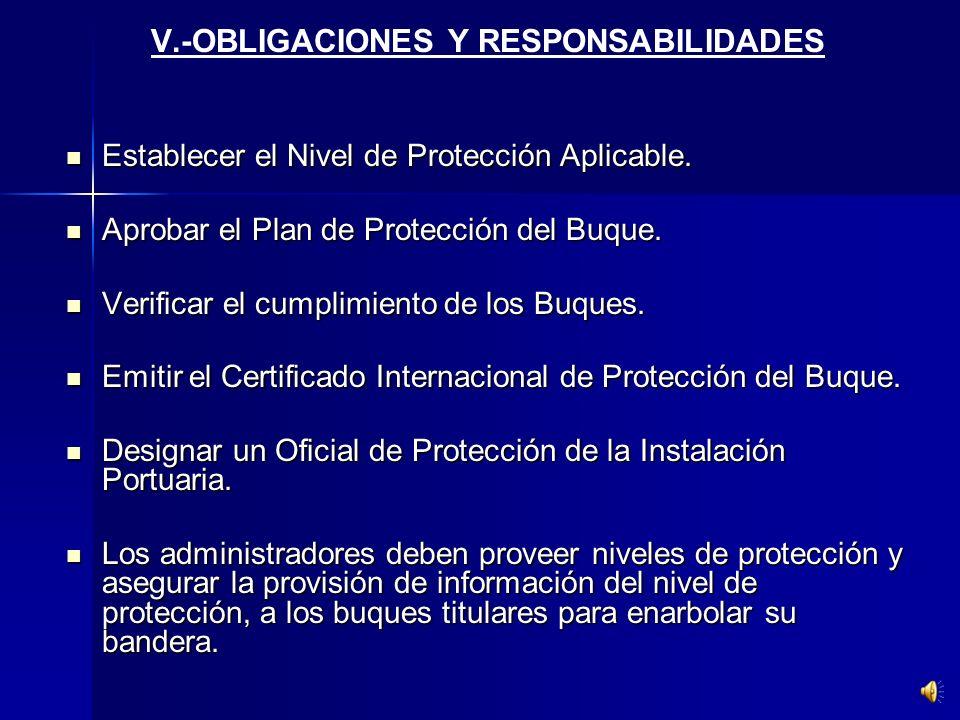 IV.- MEDIDAS ESPECIALES Obligación de los Estados Contratantes a Implementar el Código Internacional de Seguridad de los Buques y de las Instalaciones