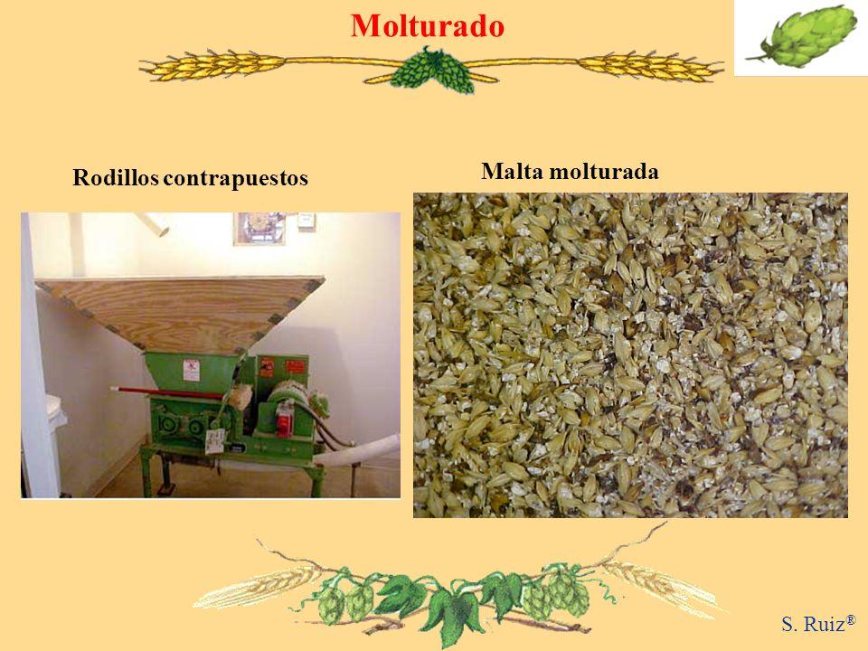 Molturado Rodillos contrapuestos Malta molturada S. Ruiz ®