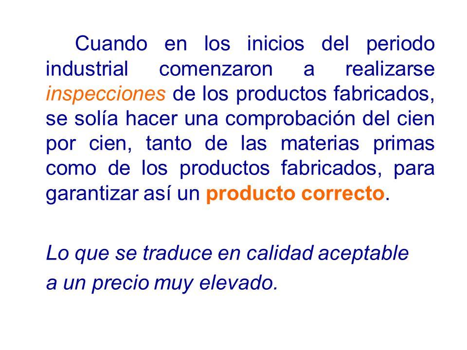 1987: publicación de la serie de normas ISO 9000.