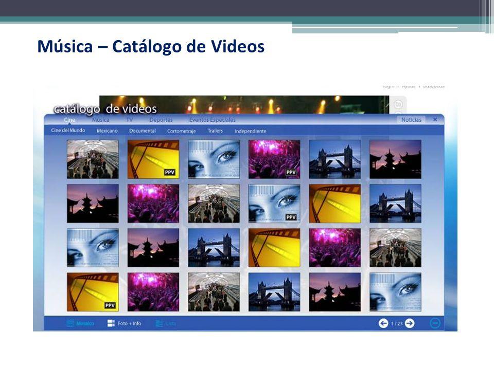 Música – Catálogo de Videos