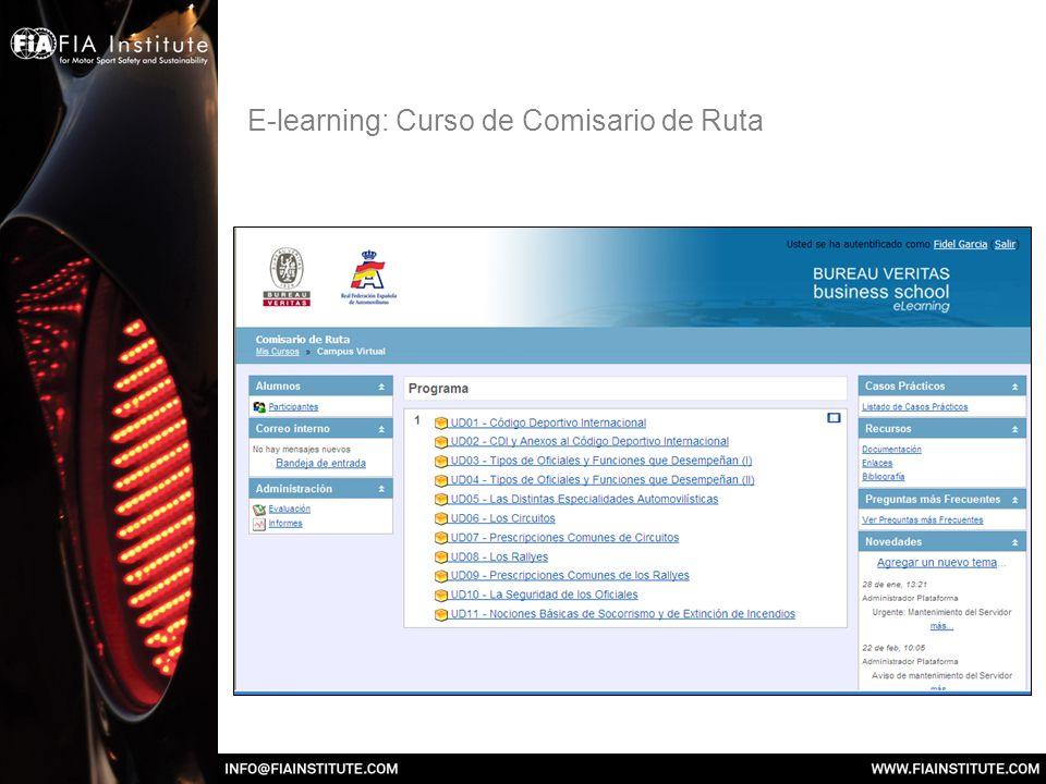 E-learning: Curso de Cronometrador